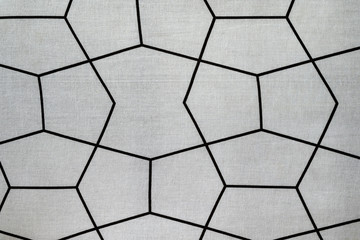 Texture, A patterned cloth with hexagonal lines crossing each other