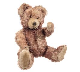 alter antiker teddy, teddybär um 1930