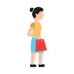 woman shopping icon image vector illustration design