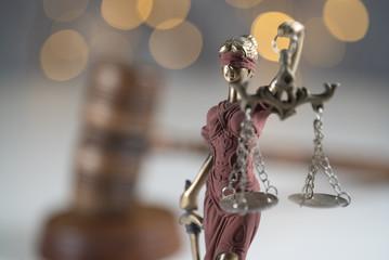 Law and Jusice. Bokeh backgroun
