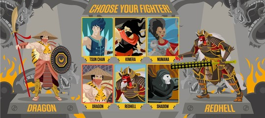 fighting video game screen