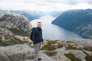 Traveler at Lysefjord