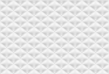 Seamless pattern white quilted fabric