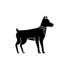 dog animal mammal pet friendly vector illustration black image