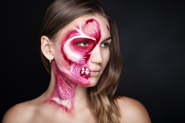 meat halloween makeup