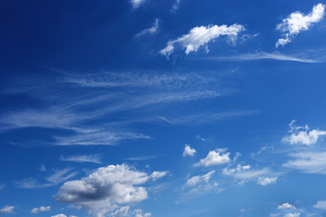 a beautiful blue sky day with white clouds as background