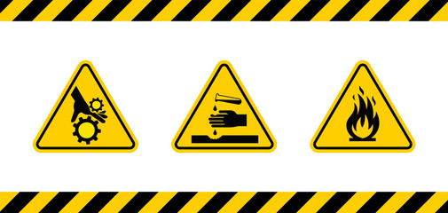 Caution danger sign.