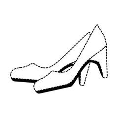 elegant heel female icon vector illustration design