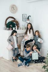 Schoolchildren children have fun holidays together