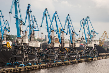 Industrial area in Riga