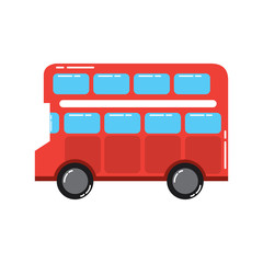 red london double decker bus public transport vector illustration
