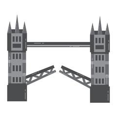 london tower bridge united kingdom landmark vector illustration