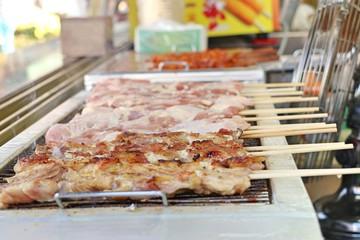 Korean street food of grill chicken