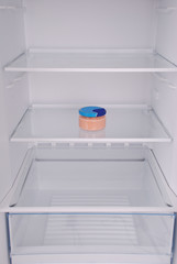 Caviar inside in empty clean refrigerator