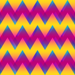 Colored zigzag seamless pattern