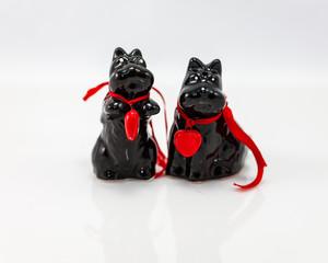 black Scottie Dog salt and peper shakers
