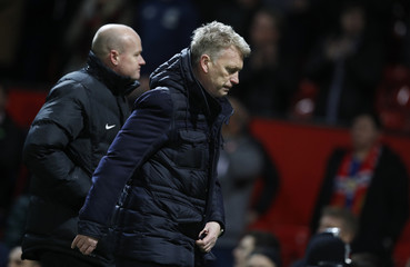 Sunderland manager David Moyes looks dejected after the game