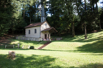 Hidden chapel in the Wood, Vosges France