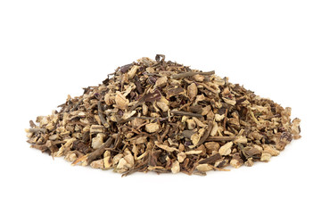 Echinacea root herb used in alternative herbal medicine to boost the immune system,  protects against colds and reduces symptoms and also has other health benefits.  Asteraceae, purpurea. Wall mural