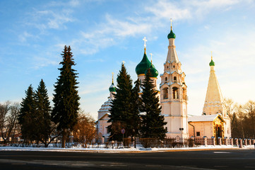 The Assumption Cathedral in Yaroslavl, Russia in winter