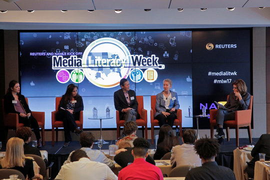 Media Literacy Week Kick-off event at the Thomson Reuters building in Manhattan