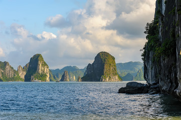 Seascape of Ha Long bay in Ha Long, Quang Ninh province, Vietnam. Ha Long bay is natural haritage of the world.