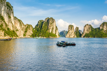 Seascape of Ha Long bay in Ha Long, Quang Ninh province, Vietnam. Ha Long bay is natural haritage of the world.