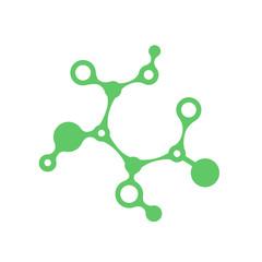 Prebiotic icon. Chemical structure of prebiotic substance symbol. Vector illustration healthcare concept.