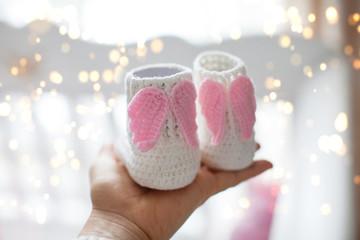 newborn angel shoes