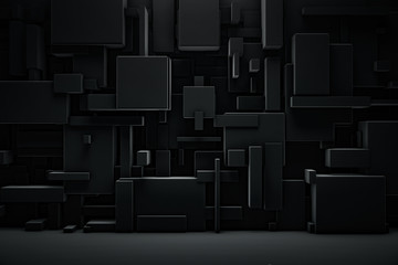 Abstract blocks background. Grunge surface, 3d rendering