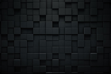 Abstract blocks background. Grunge surface, 3d rendering Wall mural