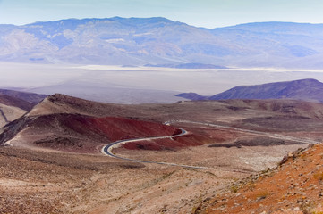 Volcanic Colors of Father Crowley Vista. Death Valley National Park, California and Nevada, USA.