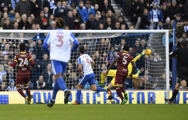 Brighton's Sam Baldock scores their first goal