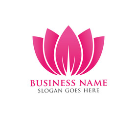 beauty lotus flower vector logo design