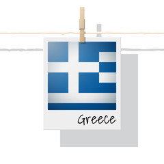 European country flag collection with photo of Greece flag , vector , illustration