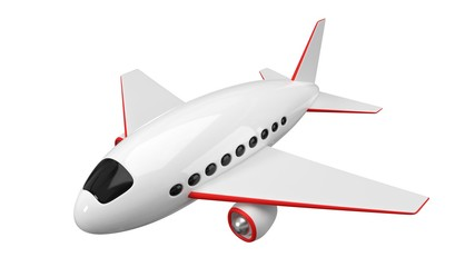 stylized airplane design. simple 3d illustration