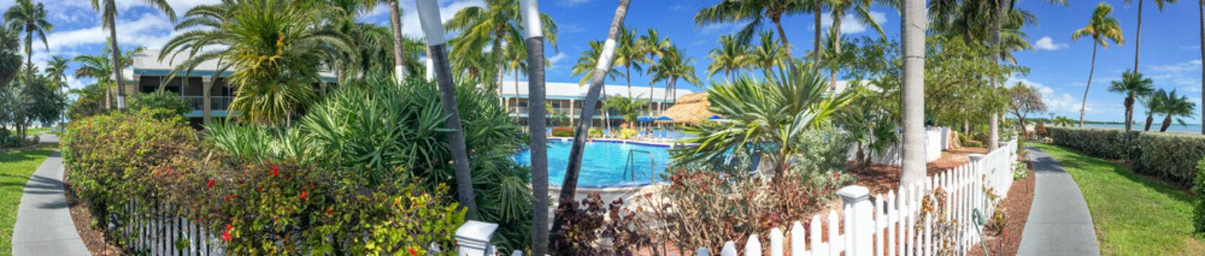 Beautiful coastline of Key West, panoramic view of Florida Keys - USA
