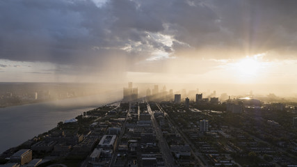 Detroit Sunshine Skyline