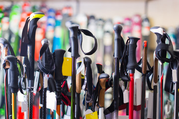 photo of large selection of ski poles