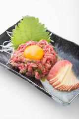 korean BBQ style beef tartar