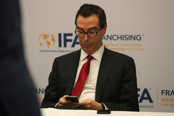 U.S. Treasury Secretary Mnuchin attends the Franchise Expo West in Los Angeles