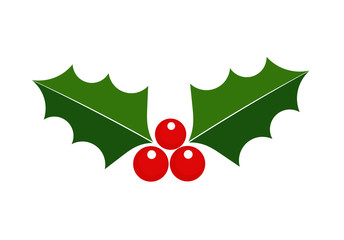 Holly icon, Christmas symbol