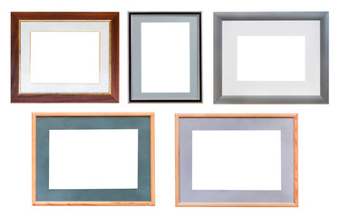 set of picture frames with passepartout isolated
