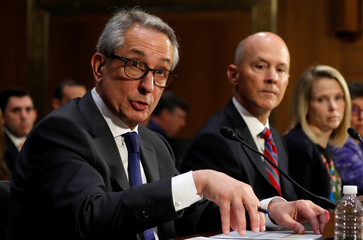 Equifax Interim CEO Paulino Barros, former Equifax CEO Richard Smith and former Yahoo Chief Executive Marissa Mayer testify on Capitol Hill in Washington