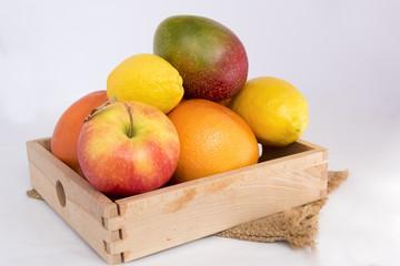 Food, citrus, lemon, orange, pomegranate, mango, apples, fruit, decor, objects