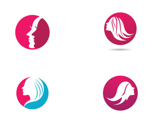 Hair logo template vector icon illustration design