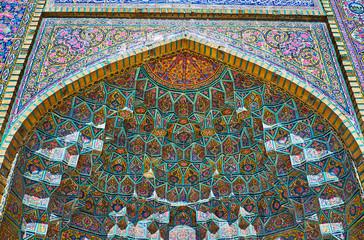 Muqarnas vault of Nasir Ol-Molk mosque, Shiraz, Iran