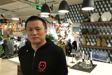 Chen Chi, China short-term rental firm Xiaozhu.com's chief executive and co-founder poses for pictures at company's headquarters in Beijing