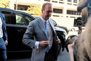 Former Trump campaign aide Rick Gates arrives for a status conference at U.S. District Court in Washington