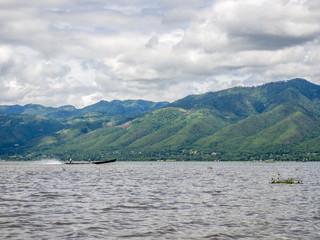 Longboat on Inle Lake